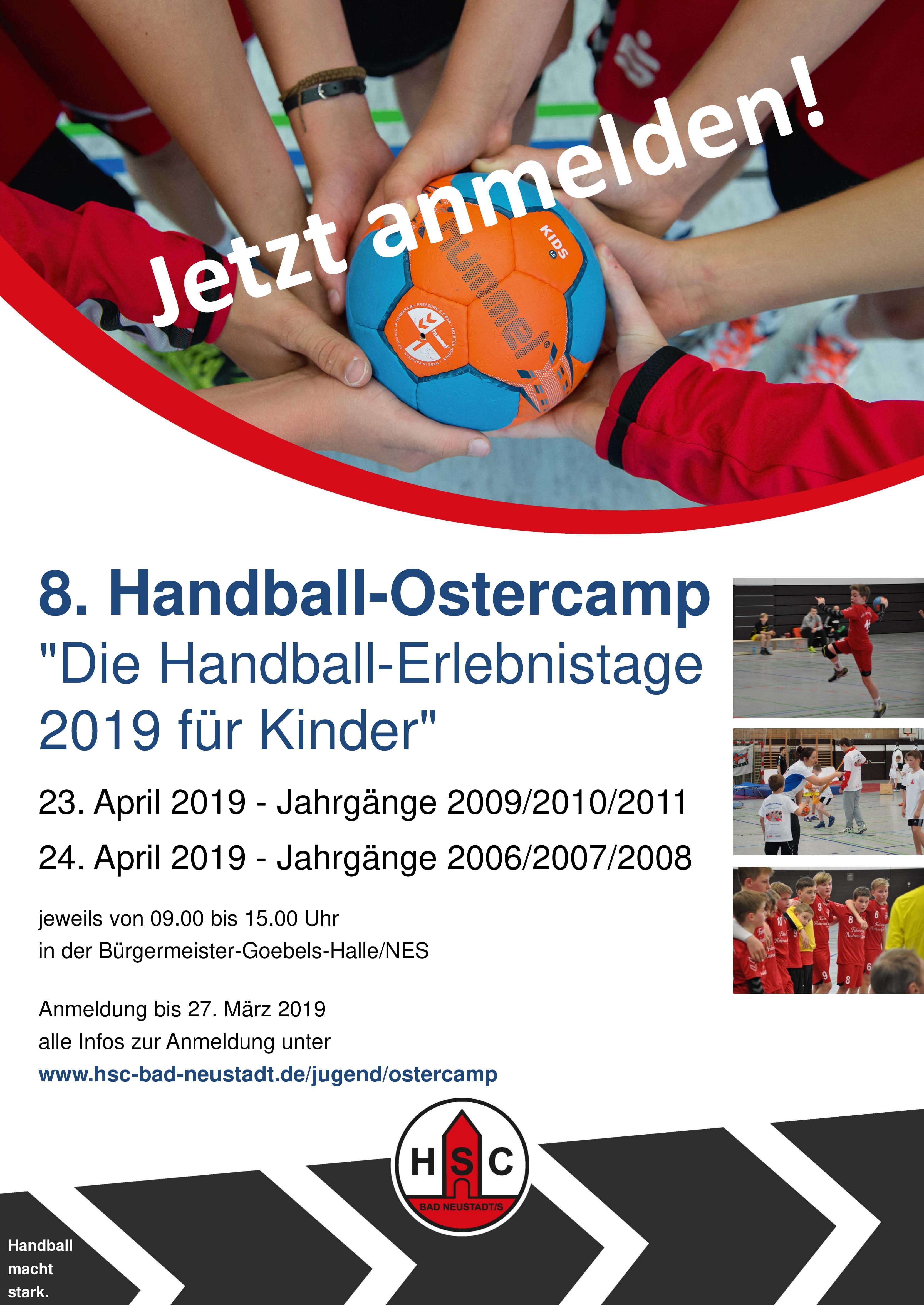 HSC-Ostercamp 2019 – Jetzt anmelden!