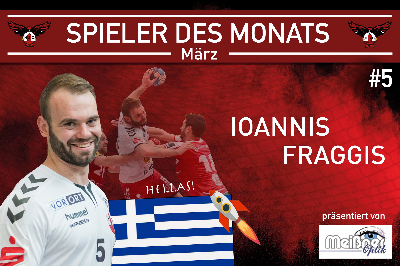 Ioannis Fraggis ist Spieler des Monats März